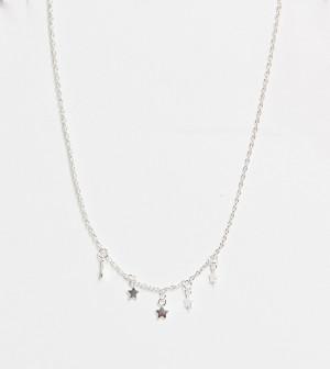Ожерелье-чокер из стерлингового серебра с подвесками-звездами Kingsley Ryan-Серебристый